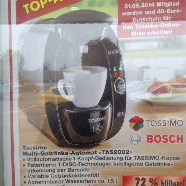 kaufland Tassimo tas2002 inkl 40€ Gutschein für 29,99€