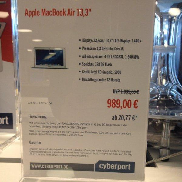 """[Lokal Cyperport Berlin] Apple MacBook Air 13,3"""" + Office 365 Paket"""