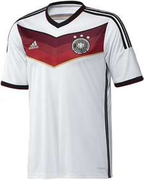 Adidas DFB Home Trikot Deutsche Nationalmannschaft WM 2014 für € 41,95 (Größe M - XXXL) € 13 Ersparnis gegenüber nächstem Preis
