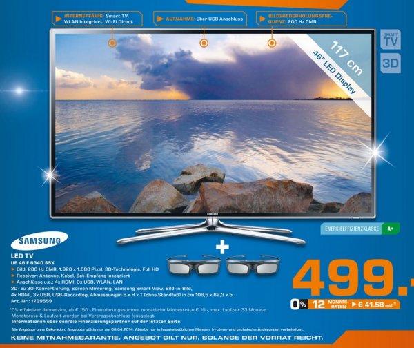 Samsung UE46F6340 für 499€ Lokal Sonntagsangebot [Saturn Bergisch Gladbach & Hamm]