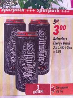 Relentless Energy Drink 0,5l Dose für 1€ @Globus