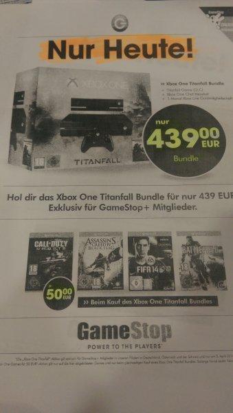 [Lokal? Wilhelmshaven] Xbox One mit Titanfall nur heute 439,-€ jedes zusätzliche Spiel nur 50,-€