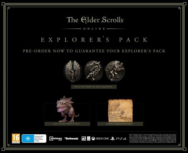 The Elder Scrolls Online + 30 Tage Spielzeit + Entdeckerpaket - Vorrat begrenzt
