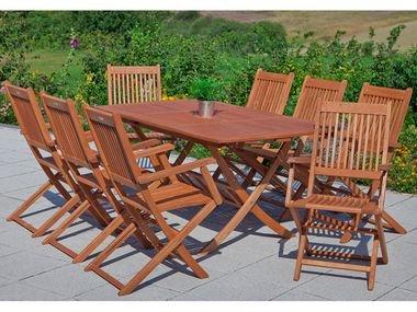 Gartenmöbel Sitzgarnitur 9 teilig Merxx Eukalypthus Hartholz Rio 8 Stühle 1 Tisch Lidl Onlineshop