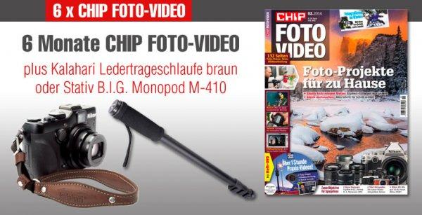 6 x CHIP FOTO-VIDEO inkl. DVD für rechnerisch 1,19 €