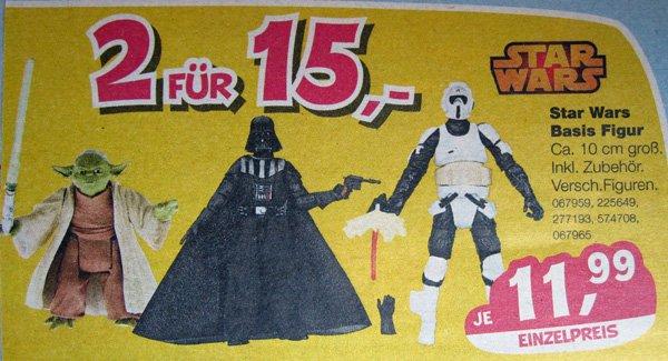 [Toys'R'Us] STAR WARS Basis Figur - 2 Stück für 15EUR - (Einzelpreis: 11,99€)