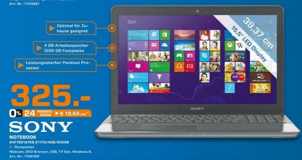 Sony VAIO SVF1521A7EB Notebook 4GB 500GB HDD NFC Win 8 [LOKAL SATURN AACHEN] nur heute!