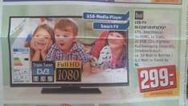 "Dual DLE39F182P3CV2 99cm 39"" USB, full-hd, smart-TV für 299@rewe"