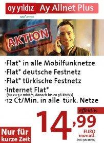 [Cepnet] Ayyildiz Allnet Flat inkl. Türkei Festnetz + 1GB Internet Flat effektiv 18,74€/Monat