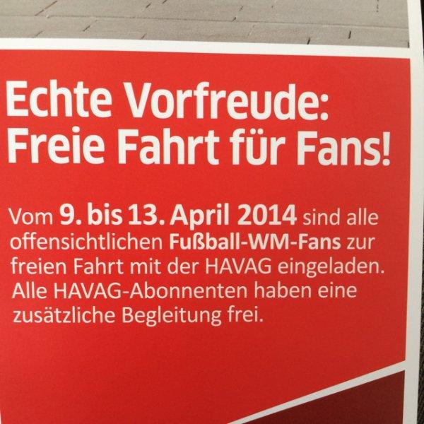 [Lokal Halle] Kostenlos HAVAG fahren vom 09. bis 13.04.14