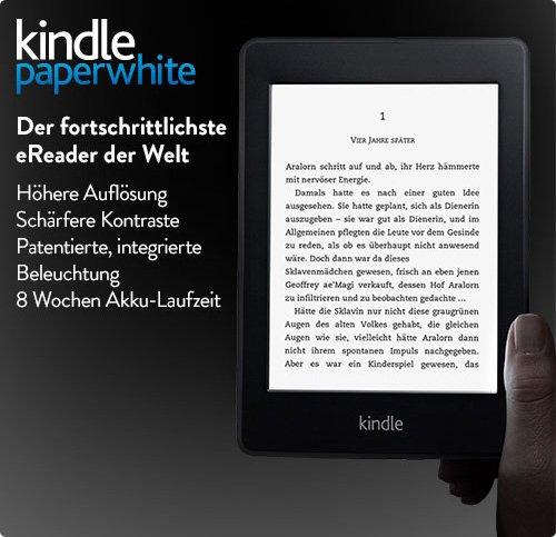 Kindle Paperwhite für 99,00 Euro direkt bei Amazon