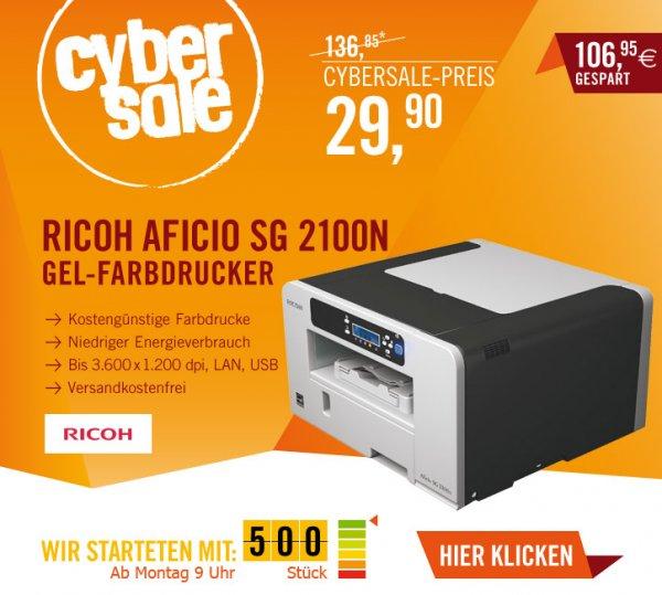 Ricoh Aficio SG 2100N Farb-Geldrucker @ Cyberport Cybersale ab 09.00 Uhr für 29,90 EUR