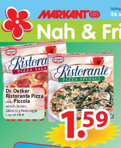 Dr. Oetker Ristorante Pizza im Angebot für nur 1,59€