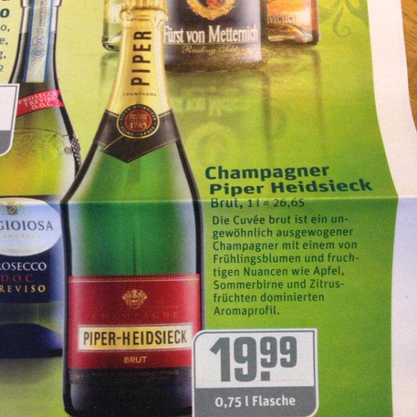 Rewe / Piper Heidsieck Champagner Brut 0.75l