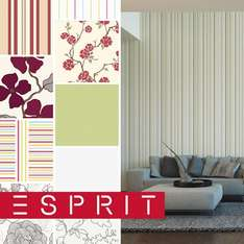 ESPRIT HOME VLIES-TAPETE verschiedene Farben + Struktur UNI STREIFEN BLUMEN