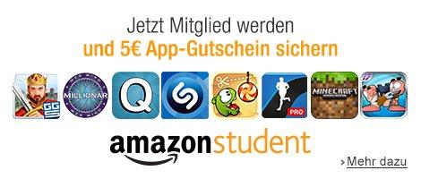 5€ Apps-Gutschein für Amazon Student Anmeldun