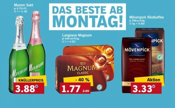 [Lidl] Magnum Eis verschiedene Sorten 4er Packung für 1,77 Euro vom 7.4. bis 12.4.