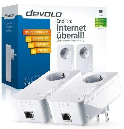 Devolo dLAN Powerline 650+ Starter Kit (600 Mbit/s, Steckdose, Datenfilter, 1 LAN Port @Amazon Blitzangebot 94,99 €