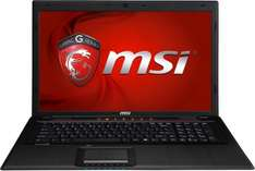 MSI Gaming Notebook GP70-i740M287FD 43,9cm 17,3'  Core i7-4700MQ NVIDIA GeForce GT 740M