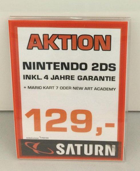 Nintendo 2DS + Mario Kart + 4 Jahre Garantie für 129€ @SATURN [Münster]