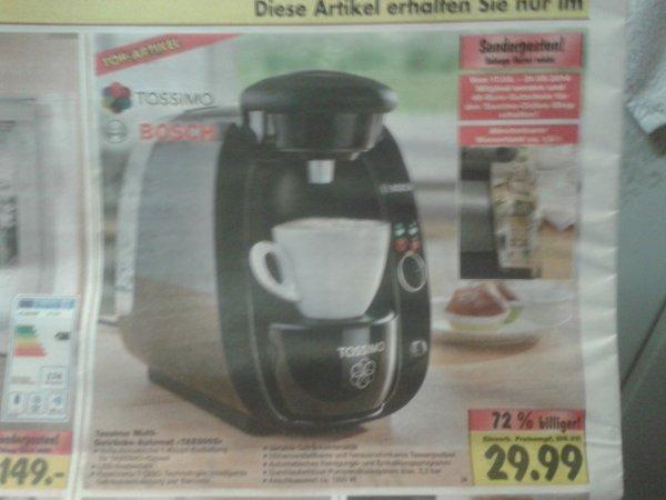 """Bosch Tassimo """"TAS2002"""" inkl. 40 € Gutschein"""