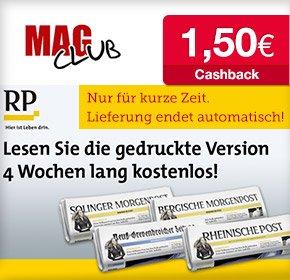 QIPU - 4 Wochen Rheinische Post gedruckt oder digital kostenlos + 1,50€ Cashback