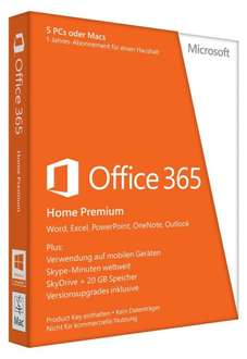 Microsoft Office 365 Home Premium für 39,90€