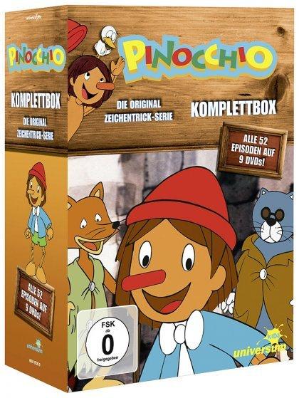 [media-dealer.de] Pinocchio - Komplettbox / Folgen 01-52 (DVD) + Boo Boo Plüschtier für 27,87 € ohne Vsk