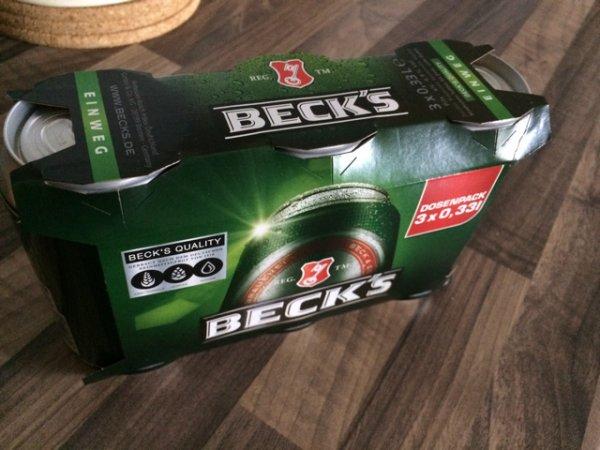 3er pack Beck's 0,33l Dose für 99cent Hol Ab