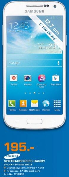 Samsung Galaxy S4 Mini für 195€ Lokal [Saturn Bad Oeynhausen]