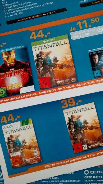 Titanfall 44 Euro/Xbox One/Xbox 360 und 39 Euro/PC im Saturn Dortmund