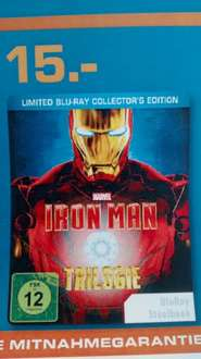 Iron Man Trilogie Blu Ray - Steelbook inkl. Iron Man Comic (Limited Blu Ray Collectors Edition)  Saturn Dortmund - 15 €