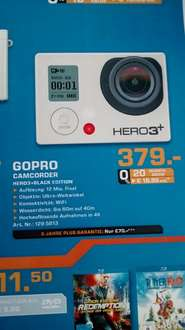 GOPRO Hero3+Black Edition Saturn Dortmund 379 Euro