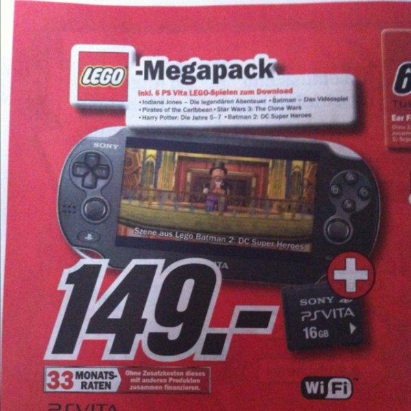 PS VITA LEGO Megapack mit 16GB SD 149€ LOKAL MM Nordhausen Idealo 199€