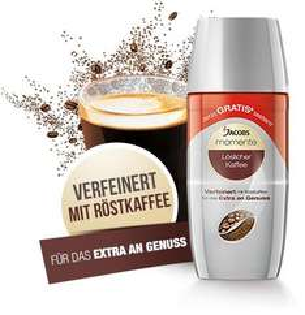 Jacobs Momente Löskaffee - Gratis testen