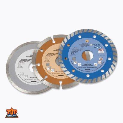 Diamant- Trennscheiben 3er Set für 3,99€ und Trenn- und  Schruppscheiben-10er Set für 2,99€ ab Montag 14.04 @Aldi Nord