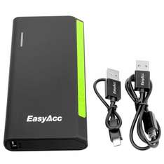 EasyAcc® 15600mAh Portable Power Bank + EasyAcc® 6000mAh Ultra Compact Power Bank für 46,99€