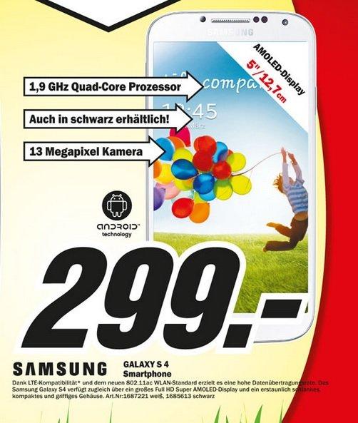 [ Lokal ] MM Ravensburg ' Samsung Galaxy S4 für 299€ Samsung Galaxy Tab3 10.1 16GB Wifi für 199€