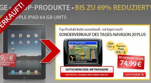 MEINPAKET hat nachgelegt | NAVIGON 20 PLUS für 74,99 zzgl. 4,90 Versand
