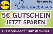 LIDL Blumenservice + Trick! € 5 Gutschein-Code € 20 MBW bis 30.04.2014, Gutschein funktioniert auch ohne MBW: Blumen ab € 9,99 versenden (Deals im ersten Kommentar)