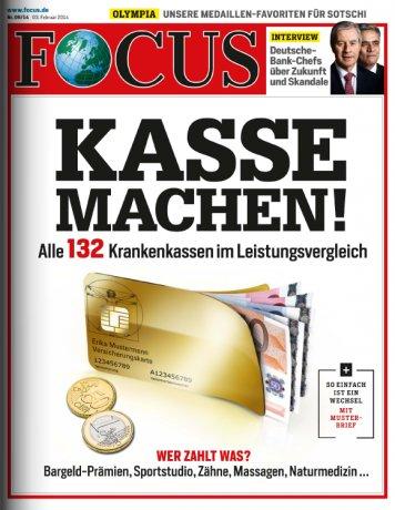 [burda direct] FOCUS - Halbjahresabo plus 85€ShoppingBON GS oder 80€ Verrechnungsscheck für 96,20€