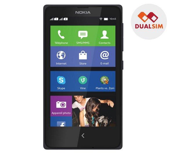 """Nokia™ - Smartphone """"X"""" (4.0"""" IPS 800x480,3.0MP Cam,4GB,Dual-SIM,Android AOSP) für €114,95 [@GetGoods.de]"""