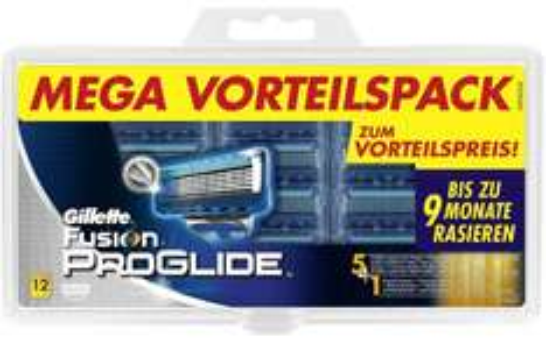 Gillette Fusion ProGlide 12 Klingen (2,73€/Stk) - Amazon Blitzangebot