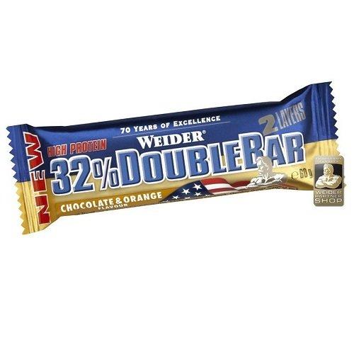 Eiweißriegel - Weider 32% Double Bar - 0,90€/Riegel (60g) + 3,90€ Versand - 48,57% Ersparnis