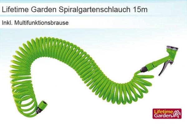 Der flexible Lifetime Garden Spiralgartenschlauch für 6,84€ statt 29,99€
