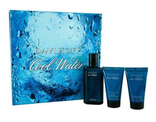 DAVIDOFF Cool Water Geschenkset [75ml Eau de Toilette + 50ml Duschgel + 50ml AfterShave Balsam] @meinpaket.de