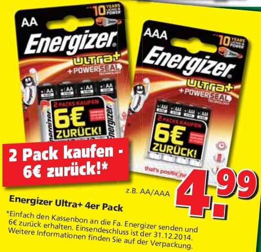 Energizer Ultra+ 2x4erPack kaufen, 6 Euro Erstattung von Energizer bekommen