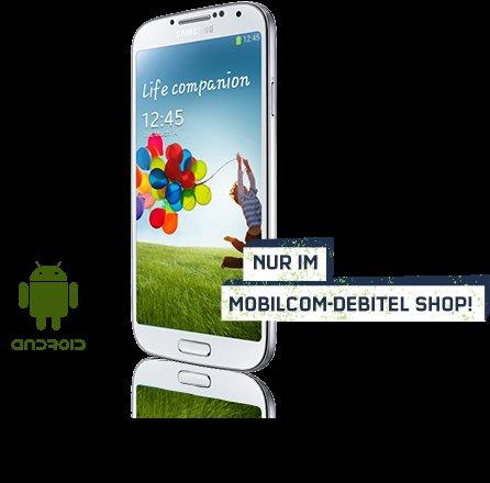 Samsung Galaxy S4 für 329,99€ ohne Vertrag bei mobilcom-debitel