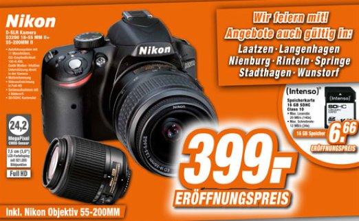 [Lokal] [Region Hannover] Nikon D3200 + 18-55 MM II + 55-200 MM II