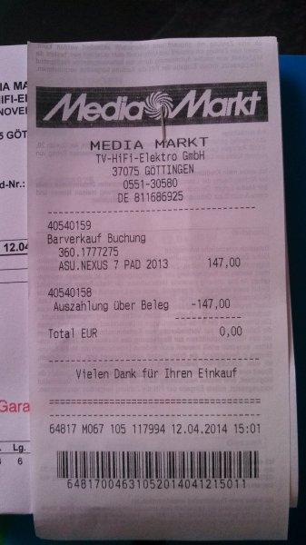 [Lokal MM Göttingen] ASUS Google Nexus 7 (2013) ab 147€